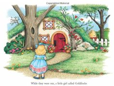 Goldilocks and the Three Bears - Mary Engelbreit's Nursery Tales: A Treasury of Children's Classics Elsa Beskow, Old Children's Books, House Illustration, Book Illustrations, Goldilocks And The Three Bears, Drawing Clipart, 3 Bears, Mary Engelbreit, Building Art