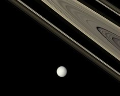 How old are Saturn's rings? No one is quite sure. One possibility is that the rings formed relatively recently in our Solar System's history, perhaps only about 100 million years ago when a moon-sized object broke up near Saturn. Evidence for a young ring age includes a basic stability analysis for rings, and the fact that the rings are so bright and relatively unaffected by numerous small dark meteor impacts.