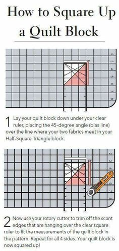 How to square-up a quilt block