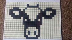 Crochet Cow, Filet Crochet, Cows, Cross Stitch, Crafty, Knitting, Diy, Character, Hama