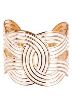 Bansri - Infinity Geometric Cuff in white