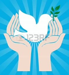 colombe: symbole de paix colombe tenant un rameau d'olivier Illustration