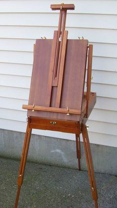 French Easel Wooden w Drawer Portable Folding Art Artist Painters Tripod Used | eBay