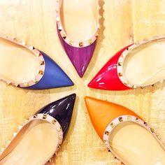 Valentino 'Rockstud' Ballerina Flat (Women) | Nordstrom