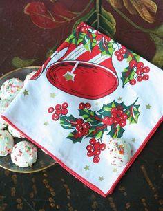 CHRISTMAS BELLS NOSTALGIC NAPKINS (SET OF 4)