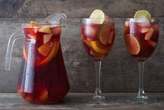 This easy red sangria recipe is made with just a few simple ingredients: Brandy, red wine, orange juice, sugar and fresh fruit. It's so refreshing for summer or during the holidays!