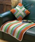 Striped & Four Square Throw & Pillow