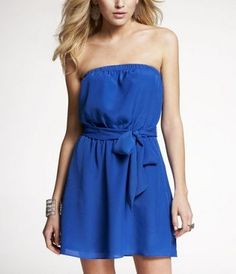 Belted tube dress from Express.  $69  would be perfect for the beach next summer!