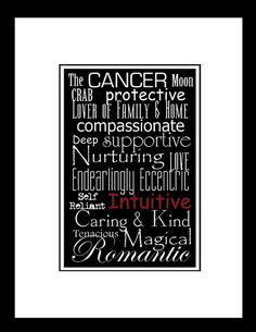 Subway Art Sign Cancer Zodiac Typography Print 5x7 on by PaperBleu, $15.50
