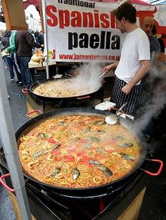 Spanish paelia! OMG!  Love it.  Cannot wait for the Cherry Creek Farmers Market to start again!