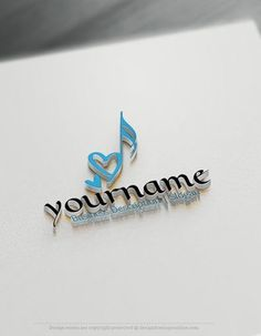Design Free Logo: Heart Music Note Logo template