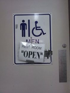 "Rest Room ""Open""  (from the misused quotation marks file)"