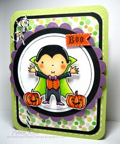 Boo! - A Halloween card with stamps from Penny Black by JammySage, via Flickr