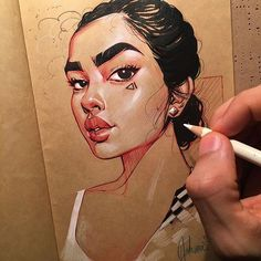 Hey guys, How's it going? I don't post new artwork very often lately but I wanted to ask what yall wanted to see more of. Should I do more digital art? Portraits on brown (Kraft) paper? Portraits on regular paper? Tell me in the comments because I'd really love to know! 🤔 • #myart #art #illustration #illustrator #drawing #instaart #instagood #sketchbook #sketch #painting #graffiti #cute #artist #stuttgart #creative_instaarts #patreon #artscrowds #artcomplex #artsbeautifulx #artistic_nation…