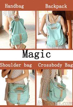 Vintage Canvas Travel Backpack Leisure Backpack&Schoolbag | Bags ...