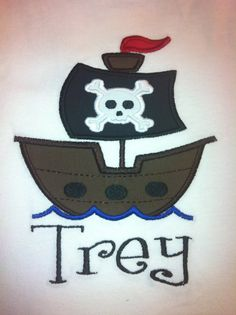 Pirate Applique Shirt for Kids by LaBarrieLittles on Etsy, $22.00