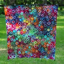Circles tie dyed