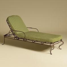 1000 images about chaise lounging w vintage wrought iron for Chaise eames rose