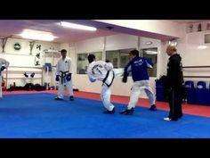 Master  Vasilis Alexandris teaching ITF Taekwon-do advanced sparring class. - http://taekwondohq.net/master-vasilis-alexandris-teaching-itf-taekwon-do-advanced-sparring-class/