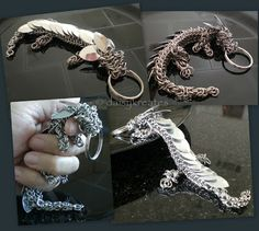 daisykreates: My Pet Dragon Maybe one day I'll get into chainmaille....