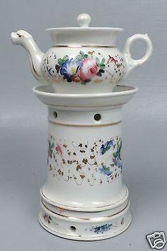 Antique 19th Century Paris Porcelain Veilleuse - PC