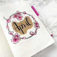 with my cover done, I finally feel like I've actually entered into this new month! how's April for you so far? . . . . . . . . #journaling #creativeplanning #bulletjournal #bulletjournallove #bujo #creativejournaling #bujolove #plannercommunity #journallove #bulletjournaljunkies #mybujo #bujoinspire #showmeyourplanner #plannerd #bujojunkies #planneradict #leuchtturm1917 #thingsbynina #april #april2018 #pink #flowers #cherryblossoms