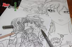 #manga #anime #drawing #sketching Manga Art, Manga Anime, Manga Tutorial, Sketching, Pop Art, Tutorials, Drawings, Painting, Collection
