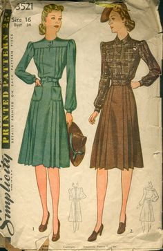 *Find again in the future* Simplicity 3521-1940s Image courtesy of http://vintagepatterns.wikia.com/wiki/Simplicity_3521