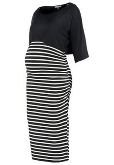 CAROLLE - Jerseyklänning - black/off white @ Zalando. Skirts, Black, Fashion, Moda, Black People, Fashion Styles, Skirt, Fasion