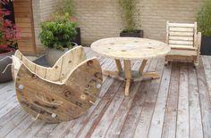furniture made of wood reels