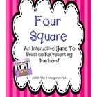 This game is the perfect addition to your Kindergarten or 1st Grade Math Center.  Four Square will help students make the connection that there are...