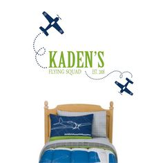 Perfect for a little boy's airplane room!