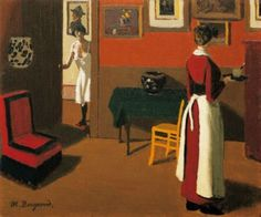 Parisian Interior oil on canvas Marius Borgeaud (Swiss, 1923 Feminine Mystique, 1920s Art, Interior Paint, New Art, Parisian, Art Boards, The Help, Oil On Canvas, Art Photography