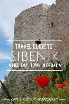 A travel guide to Sibenik in Croatia. The medieval old town glimmers with white marble flagstones and a steep labyrinth of alleyways. Churches castles cemeteries and crystal clear water. There are so many things to do in Sibenik. Europe Travel Guide, Travel Guides, Travel Advice, Amazing Destinations, Travel Destinations, Stuff To Do, Things To Do, Croatia Travel, Travel Couple