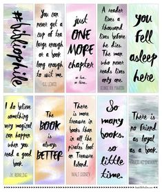 I just LOVE these watercolor bookmarks! So many options to inspire me every time… I just LOVE these watercolor bookmarks! Bookmarks Quotes, Paper Bookmarks, Cute Bookmarks, Watercolor Bookmarks, Crochet Bookmarks, Free Printable Bookmarks, Free Printables, Printable Book Marks, Marque Page