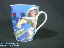 Disney Buzz Lightyear at Your Service Blue Coffee Mug New Toy Story Pixar 10 oz. New Toy Story, Blue Coffee Mugs, Buzz Lightyear, Cute Mugs, Pixar, Toys, Tableware, Gifts, Ebay