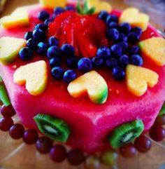Healthy cake ideas!  Its really watermelon!)