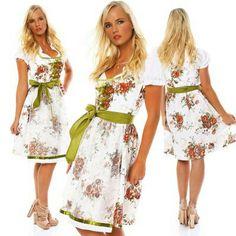 17a8c527733a66 Dirndl, Farben, Kleider, Blumenmuster, Zwei Stück, Röcke, Mode