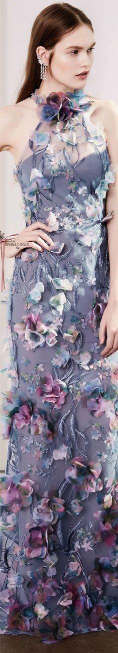 Marchesa Notte Fall 2017 RTW Me gusta el tejido para combinar con algo liso