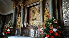 The holy image of Our Lady of Ostrabrama is housed in the chapel of the Dawn Gate of Vilnius, Lithuania Photo by A.K.Pearl, April, 2015