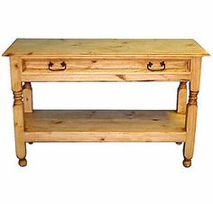 Mexican Sofa Table With Drawer
