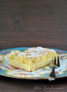Gefüllter Streuselkuchen mit Pudding