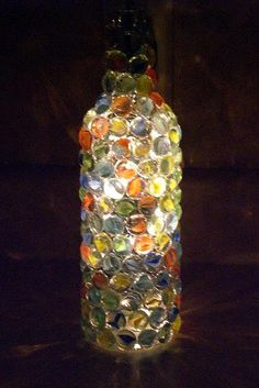 Hostess Jo: My Mosaic Wine Bottles