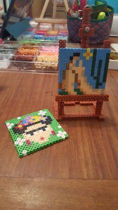 Template Tarsila Amaral, Abaporu e Frida kahlo. Quadrado 15x15 beads