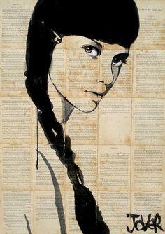 "Saatchi Online Artist: Loui Jover; Pen and Ink 2013 Drawing ""raven (SOLD)"""