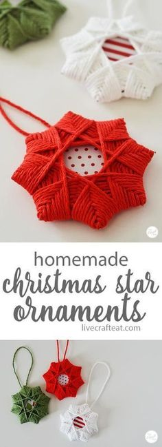 Homemade Christmas Tree Star Ornament With Yarn easy woven star christmas ornaments for kids! uses only a few inexpensive supplies but it is so impressive looking! The post Homemade Christmas Tree Star Ornament With Yarn appeared first on Holiday ideas. Christmas Tree Star, Christmas Crafts For Kids, Diy Christmas Ornaments, Handmade Christmas, Holiday Crafts, Christmas Holidays, Cheap Christmas, Christmas Gifts, Christmas Ideas