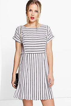Coraline Striped Smock Dress