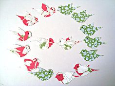 Birds Embellishments Floral Green Fuchsia Scrapbooking by Wcards, $2.50