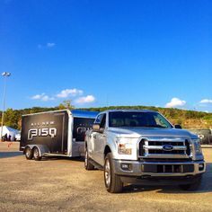2015 Ford F-150 towing a trailer