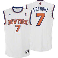 Carmelo Anthony Youth Jersey: adidas White Replica #7 New York Knicks 2012-2013 Jersey